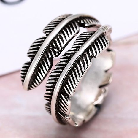 European and American fashion retro leaf temperament personality open ring NHSC184075's discount tags