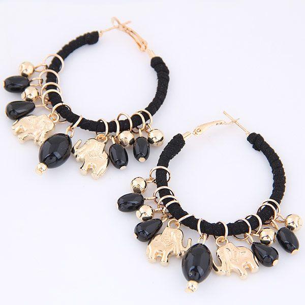 European and American trend metal wild bear multi-element pendant temperament earrings earrings NHSC184031