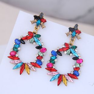 European and American fashion metal simple and bright gem temperament earrings NHSC184076's discount tags