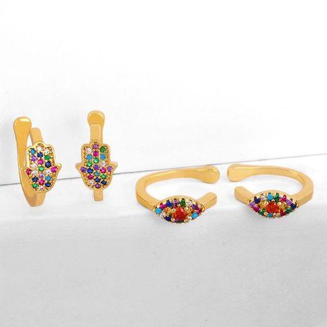 Vintage earrings eye palm ear clip NHAS183997's discount tags