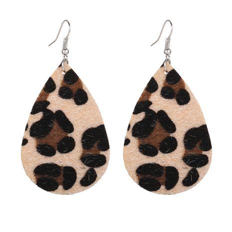 New retro earring creative leopard print earrings for women NHPJ183992's discount tags