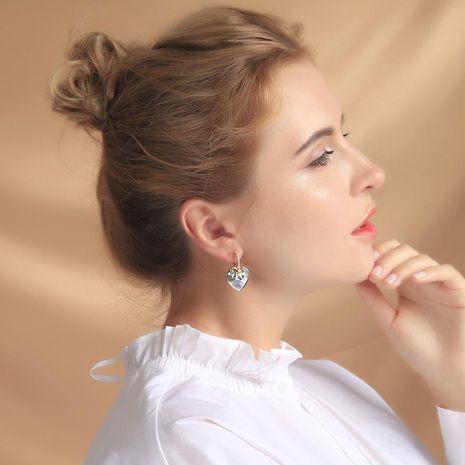 Korean crystal diamond earrings simple oil drop heart earrings new earrings NHQD183882's discount tags