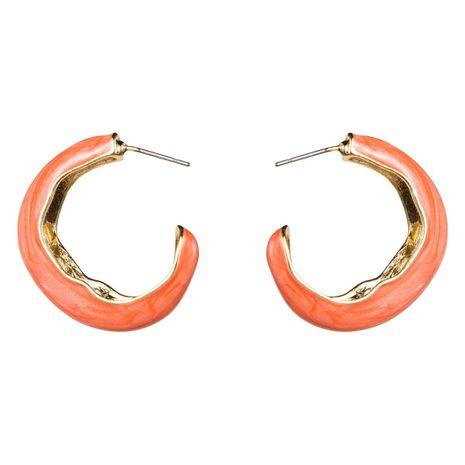 C-shaped alloy oil drop earrings female retro temperament earrings earrings NHJE183820's discount tags