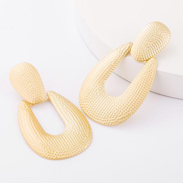 Fashion New Bump Pattern Alloy Geometric Earrings Female Earrings NHJE183824