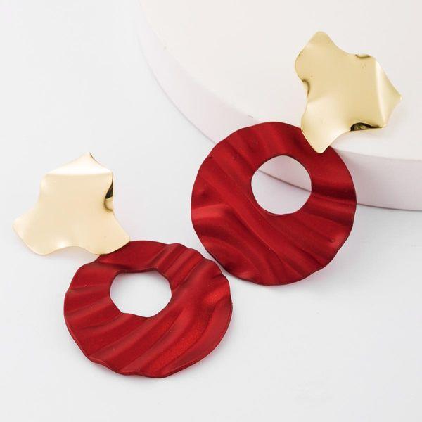 earrings fashion hollow round water ripple alloy European and American earrings female retro earrings NHJE183826