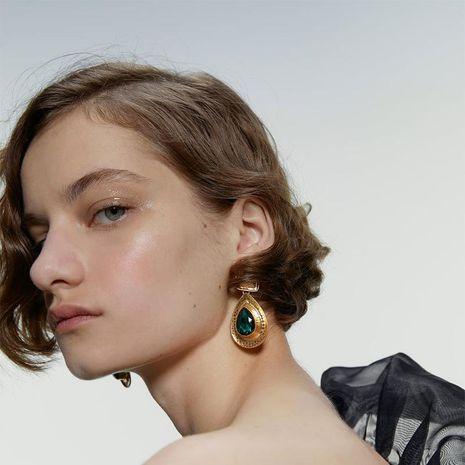 Alloy Diamond Gem Earrings Vintage Earrings Luxury Drop Shape Earrings Accessories NHJQ183833's discount tags