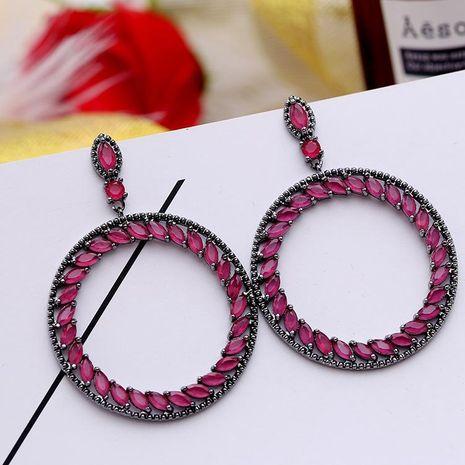 Hoop earrings Korean long earrings hollow hollow circle earrings women NHDO184018's discount tags