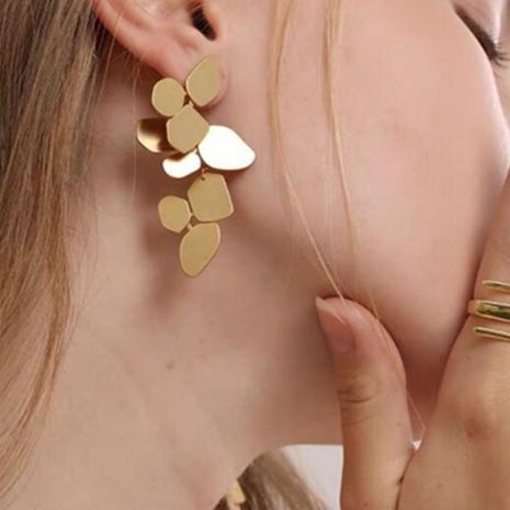 New Vintage Earrings Irregular Leaf Long Earrings Temperament Geometric Earrings NHGY183796's discount tags