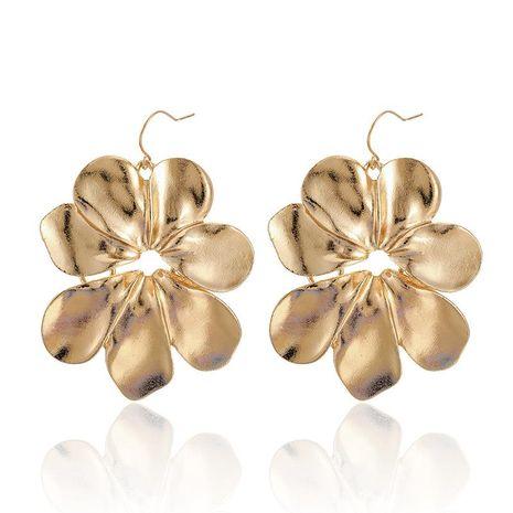 Alloy Large Flower Earrings Temperament Wild Petal Stud Earrings NHGY183817's discount tags