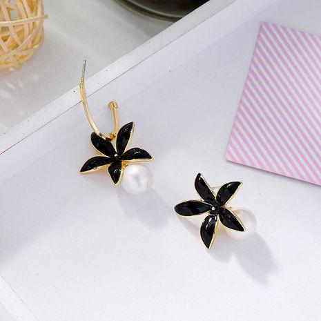 Fashion dripping oil earrings female personality pearl earrings creative asymmetric earrings NHQD183875's discount tags