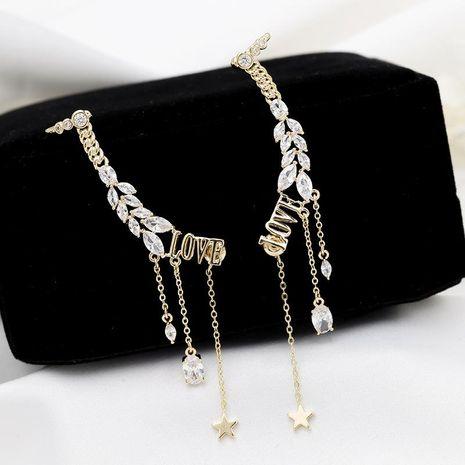 Earrings letters tassel ear bones one earrings female star earrings NHDO184019's discount tags