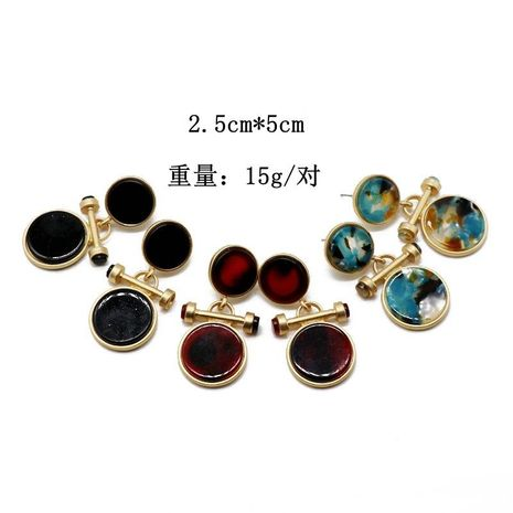 Round colored resin stud earrings wholesales fashion NHOM183917's discount tags