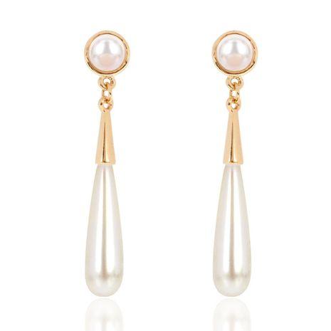 Korean fashion large imitation pearl earrings female elegant personality water drop earrings NHCT183777's discount tags
