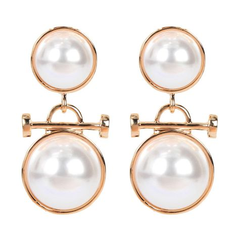 Simple imitation pearl earrings short earrings female earrings NHCT183780's discount tags