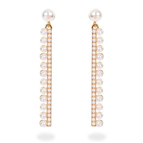 Korean fashion earrings wild I-shaped imitation pearl long earrings women NHCT183781's discount tags