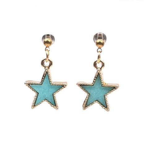 Pentagram earrings jewelry wholesale star earrings NHYL183957's discount tags