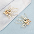 Bridal Jewelry Handmade Pearl Hair Clip Earring Set Headdress NHHS183597