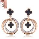 Metal flash diamond simple multicircle temperament stud earrings NHSC184043