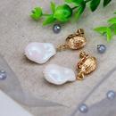White Irregular Imitation Pearl Ear Clip Ear Studs Geometric Pearl Ear Clip Ear Studs NHOM183901