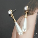 Korean fashion large imitation pearl earrings female elegant personality water drop earrings NHCT183777