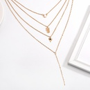 Fashion multilayer necklace women simple pineapple coconut short neck chain clavicle chain NHDP190616