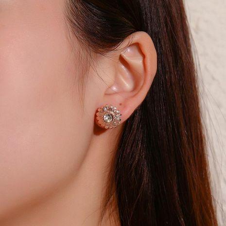 Dulce margarita pendientes niña corazón simple diamante flor pendiente joyería de moda al por mayor NHDP190618's discount tags