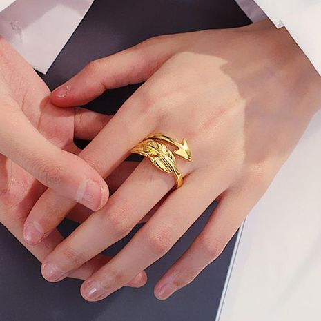 New hand-worn feather ring men and women arrow open ring couple ring NHDP190626's discount tags