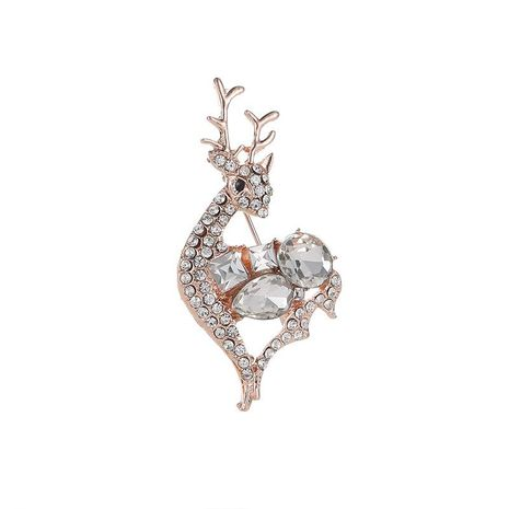 Fawn brooch cute corsage scarf scarf pin clothing accessories NHDP190636's discount tags