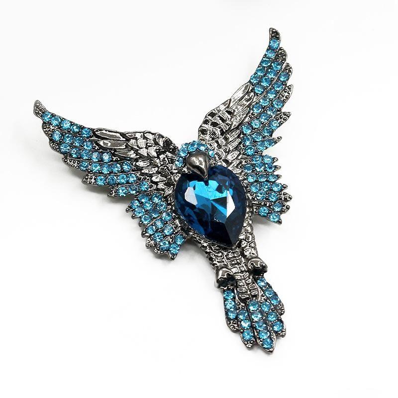 Joyería al por mayor de moda de diamantes accesorios animales broche de águila NHDP190641