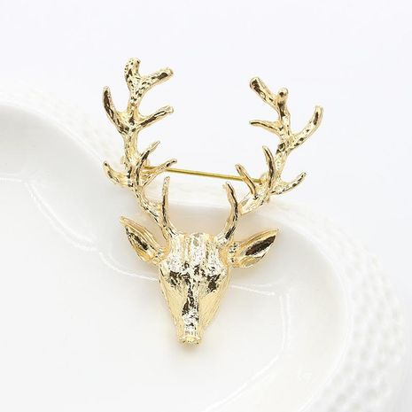 Elk Brooch Golden Antlers Christmas Gift Pin Accessories Fawn Christmas Gift Wholesale NHDP190642's discount tags