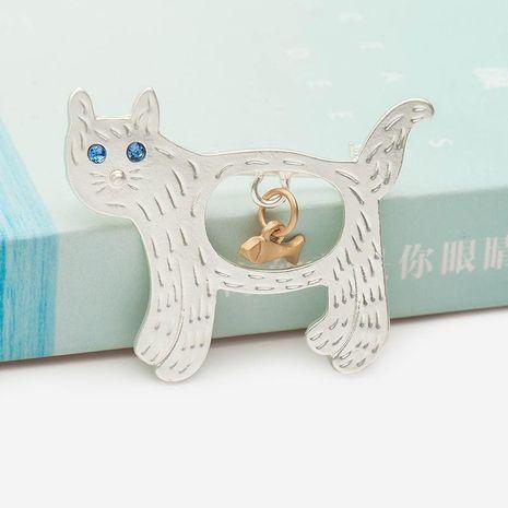 Korean jewelry wholesale cute kitten brooch sweater pin brooch NHDP190643's discount tags