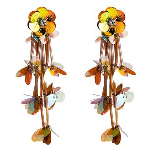 Multi-layer diamond flower sequin earrings female fashion simple earrings bohemian earrings NHJE190667's discount tags