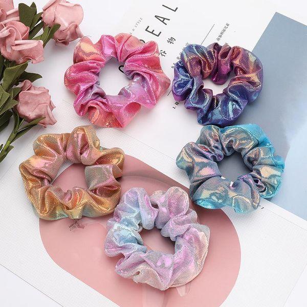 Fashion Colorful Gradient Color Bowel Hair Korean Hair Ring Female Hair Accessories NHJE190668