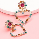 Rhinestone and diamond love heart earrings female earrings fashion earrings wholesale NHJE190681