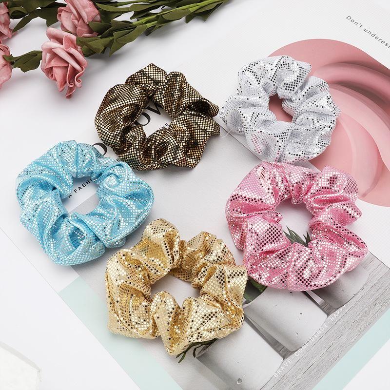 Round sequins simple Korean hair ring female bowel hair accessories NHJE190700