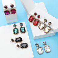 New alloy diamond rhinestone glass diamond earrings women's geometric earrings NHJE190701