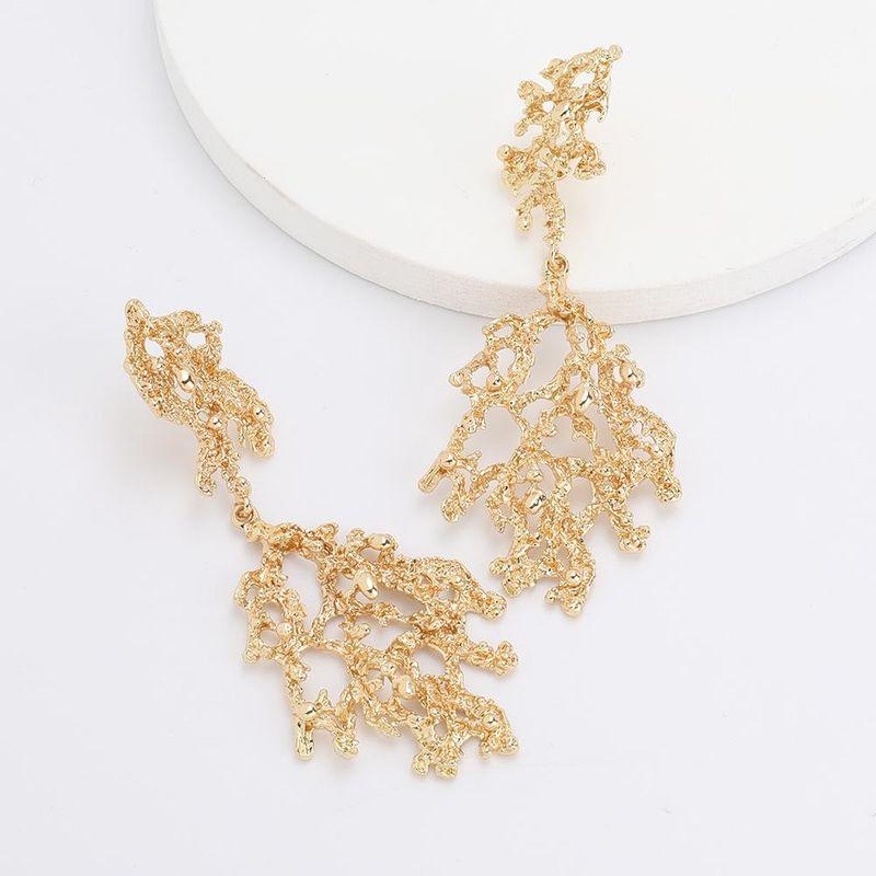 Fashion Alloy Twig Gold Geometry S925 Silver Vintage Earrings women's earrings wholesale NHJE190704
