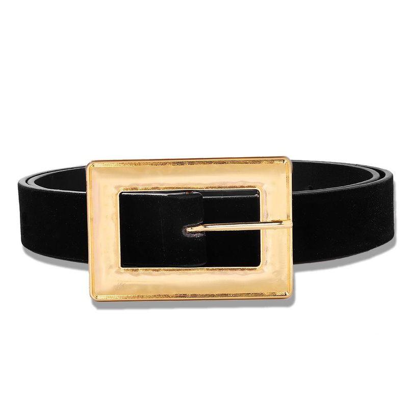 Velvet belt fashion simple clothing accessories wild belt jewelry wholesale NHJQ190707
