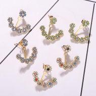 Alloy diamond earrings simple earrings fashion earring accessories Korean new earrings NHJQ190708