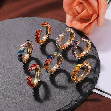 New alloy diamond ear clip simple earring accessories fashion popular earrings NHJQ190727
