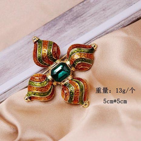 Vintage Antique Enamel Cross Brooch Emerald Pin NHOM190827's discount tags