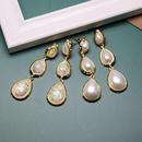 White colored water drop earrings earrings Korean resin pearl earrings wild jewelry NHOM190852