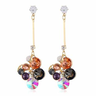 Personalized earrings earrings bohemian color diamond alloy earrings NHVA190887's discount tags