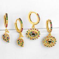 New earrings rainbow leaf earrings full diamond earrings NHAS190892