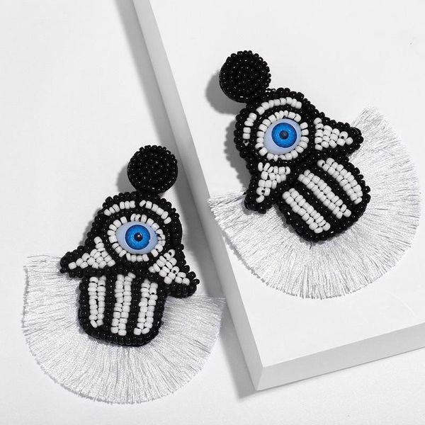 Mizhu Tassel Earrings Personality Creative Acrylic Big Eye Long Earrings NHAS190895