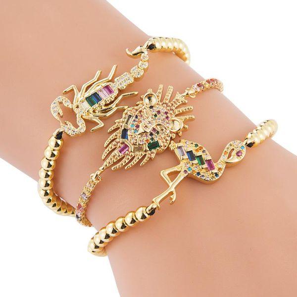 Bracelets Fashion Bracelets Women Fine Brass Inlaid Zircon Woven Animals Bracelets women NHLN190906
