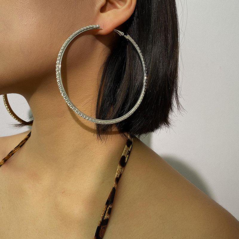 Personalized Hip-Hop Exaggerated Big Ear Hoops Lady Punk Earrings Earrings NHXR190920