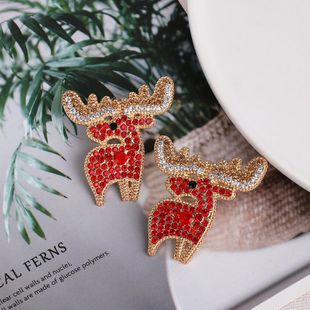 Earrings Female Elk Full Diamond Earrings Christmas Earrings NHJJ190960's discount tags