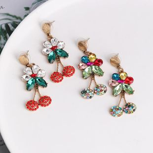 Cherry Earrings Fashion Pearl and Diamond Long Earring Earrings NHJJ190962's discount tags