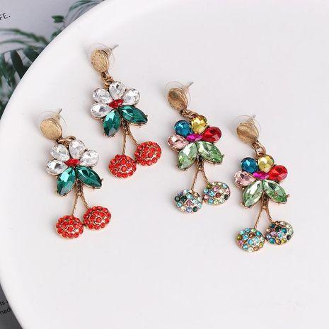 Pendientes de cereza Pendientes largos de perlas y diamantes de moda NHJJ190962's discount tags